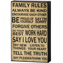 Obraz Family Rules