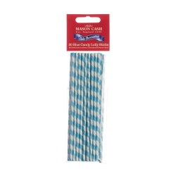 Sada tyček na lízátka Lolly Sticks Blue Stripe 15cm